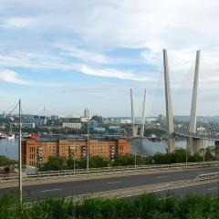 Golden horn bridge Vladivostok