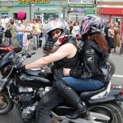 Bikers in Vladivostok